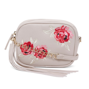 Rose Embroidery Crossbody