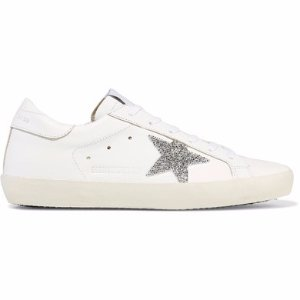 Golden Goose Deluxe Brand   Super Star Swarovski crystal-embellished leather sneakers   NET-A-PORTER.COM