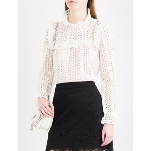 CLAUDIE PIERLOT Bird cotton blouse