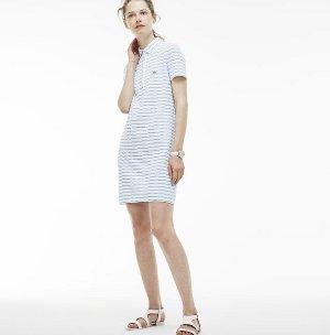 $96.99($195) Lacoste Women's Two-Tone Caviar Piqué Adjustable Belt Polo Dress