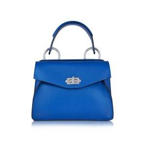 Proenza Schouler memphis blue Small Hava Smooth Leather Top Handle Bag