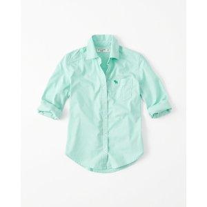 girls Long-Sleeve Shirt | girls 40-60% off select styles | Abercrombie.com