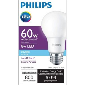 Philips 60W Equivalent Daylight A19 LED Light Bulb
