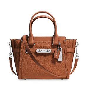 COACH Swagger 21 Carryall in Pebble Leather - COACH - Handbags & Accessories - Macy's