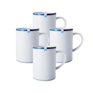 Mikasa® Jet Set Blue Set of 4 Mugs