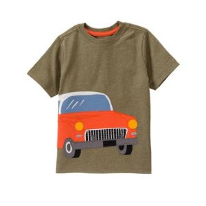 Toddler Boys Olive Green Car Tee by Gymboree