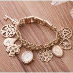 Anne Klein 10-8096CHRM 施华洛世奇水晶金色手表手链串