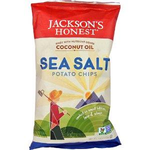 Jackson's Honest Coconut Oil Potato Chips Sea Salt -- 5 oz
