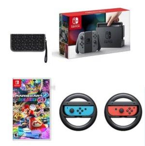$389.99Nintendo Switch Console with Gray Joy-Con Mario Kart Bundle