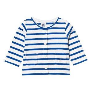 Petit Bateau Blue and White Stripe Cardigan | AlexandAlexa