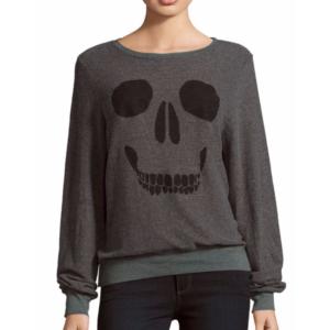 Wildfox - Skull Face Print Pullover - saksoff5th.com
