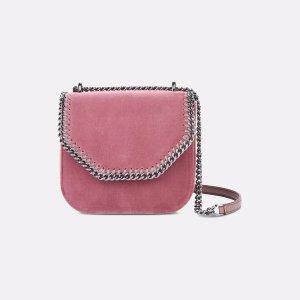 Velvet Pink Falabella Box Mini Shoulder Bag - Stella Mccartney