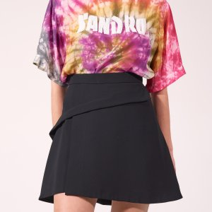 Short Asymmetric Skirt - Skirts - Sandro-paris.com