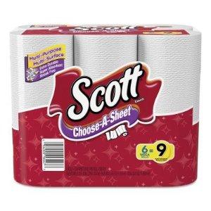 Scott Towels Mega Roll Choose-A-Size White- 6 ct- 340.8 sq-ft