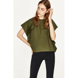 TOP WITH FRILLED SLEEVE