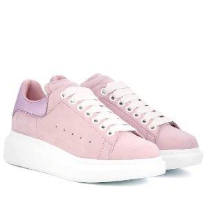 $405ALEXANDER MCQUEEN Suede platform sneakers @ mytheresa