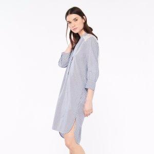 Striped Lace Tunic Dress - Dresses - Sandro-paris.com