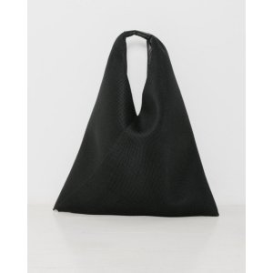 MM6 Maison Margiela Mesh Triangle Tote in Black | The Dreslyn