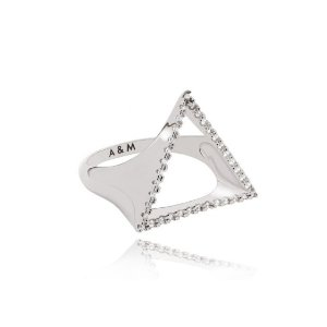 Silver Triangle Signet Ring