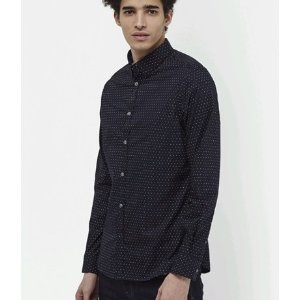 Mix Dot Hidden Contrast Shirt | Mens Sale | French Connection Usa