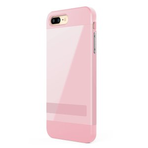 iPhone 7 Plus Case, ALYEE Anti-scratch Protection Ultra Thin Fit Dual Layered Heavy Duty Hybrid Hard PC + Soft TPU Shell Armor Defender Case Cover with Kickstand for iPhone 7 Plus 5.5inch(Pink): Cell