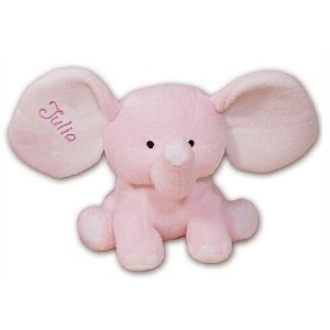 Embroidered Personalized Pink Plush Elephant - 8