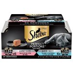 SHEBA Perfect Portions Pate Entree Wet Cat Food Trays 24 X 2.6 oz