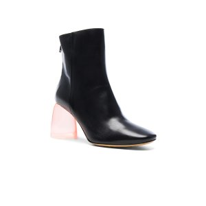 Ellery Leather Sacred Booties in Black & Pink