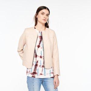 100% Lambskin Leather Jacket - Jackets - Sandro-paris.com