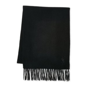 Embroidered Logo Wool Scarf - Century 21