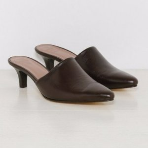 Maryam Nassir Zadeh Andrea Mule in Chocolate Calf