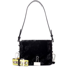 Binder Clip velvet shoulder bag