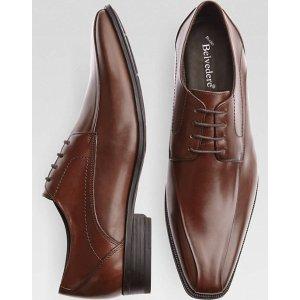 Belvedere Palazzo Brown Bike-Toe Oxfords - Men's Dress Shoes   Men's Wearhouse