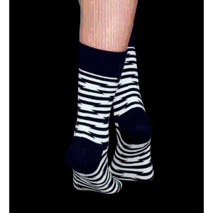 Barb Wire Fashion Socks in Black and White. Buy Online Socks at Happy Socks.