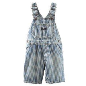 Toddler Boy Hickory Stripe Shortalls | OshKosh.com
