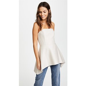 alice + olivia Duncan Strapless Top