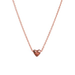 dream of love, rose gold dipped heart charm necklace