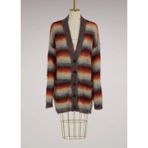 Mohair oversize striped cardigan
