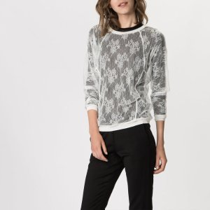 GOLF Nylon lace sweatshirt - Tops & Shirts - Maje.com