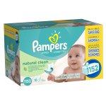 Pampers 帮宝适Natural Clean婴儿湿巾(1152 片)