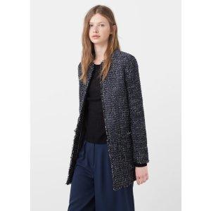 Flecked cotton-blend coat - Women | OUTLET USA