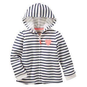 Baby Girl Striped French Terry Hoodie | OshKosh.com
