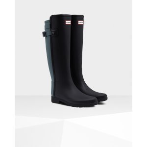 Womens Blue Refined Rain Boots | Official US Hunter Boots Store