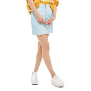 Topshop Zip Faux Leather Miniskirt | Nordstrom