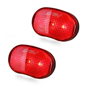 $7.99BV Bike Rear Light 2 Pack, Bicycle LED Taillight, Quick-Release, Weather Resistant