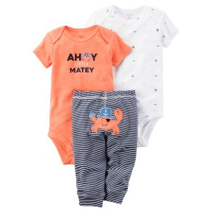 Baby Boy 3-Piece Neon Little Character Set | Carters.com
