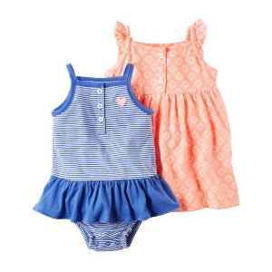 Baby Girl 2-Pack Neon Dress & Sunsuit Set | Carters.com