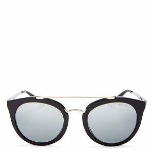 Prada Phantos Round Mirrored Sunglasses, 52mm | Bloomingdale's