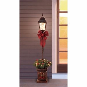 Holiday Time Pre-Lit 4' Christmas Lamp Post Tree, Clear Lights - Walmart.com