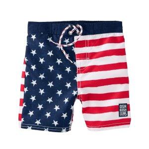 Kid Boy OshKosh Flag Print Swim Trunks | OshKosh.com